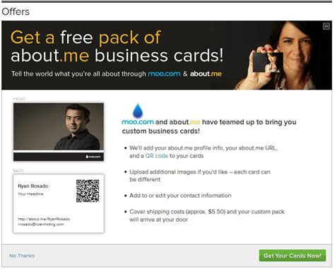 about me business website about me business cards brand yourself s roar