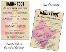Hand and Foot Card Game Rules Printable
