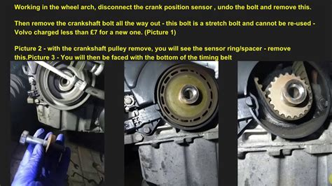 volvo   cambelt tensioner change youtube