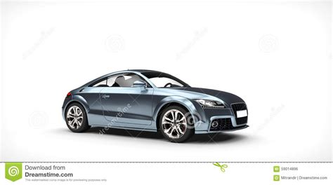 Shiny Blue Business Car Stock Illustration