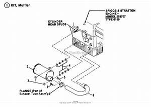 Snapper 2811x5s 28 U0026quot  11 Hp Extra Tough Rear Engine Rider Series 5 Parts Diagram For Exhaust