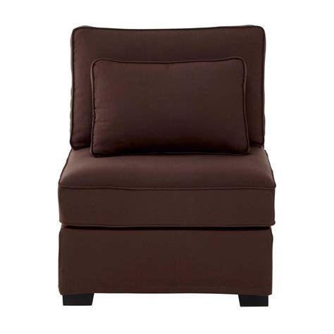 canapé chauffeuse modulable chauffeuse de canapé modulable en coton marron chocolat