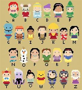 chibi disney character alphabet by kanitted on deviantart With disney character letter art
