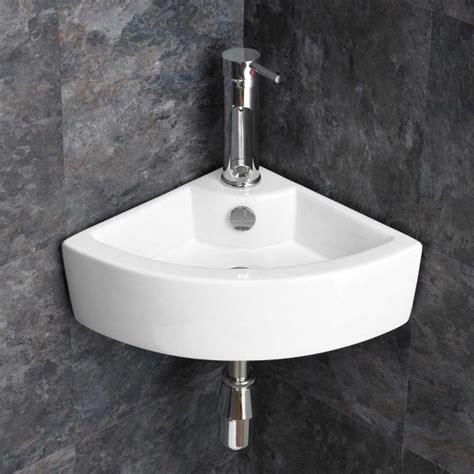 corner hand wash sink olbia corner wall mountable basin with taps and waste