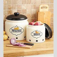 Earthenware Ventilated Onion Or Potato Storage Crock