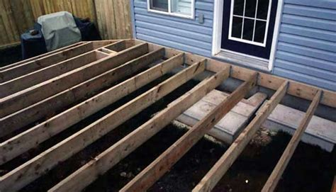Deck Joist by Installing Deck Posts And Beams Free