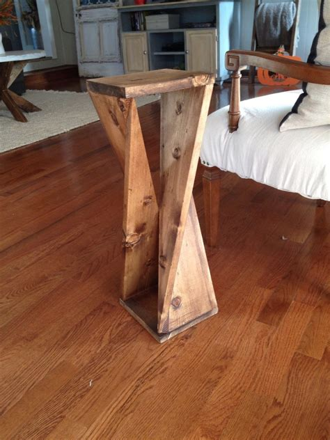 ana white twisty table  woodshop diaries diy projects