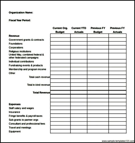 annual personal budget template excel format sample