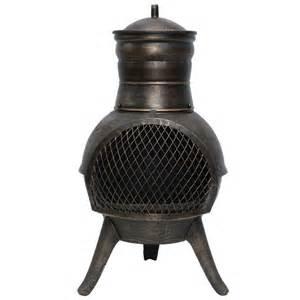la hacienda squat cast iron steel chiminea 70cm on sale fast delivery greenfingers com