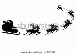 Santa Sleigh Silhouette Stock Images, Royalty-Free Images ...