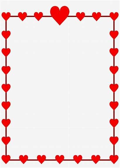 Border Valentines Valentine Borders Clip Clipart Transparent