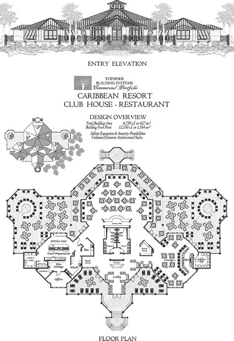 commercial design concept caribbean resort club