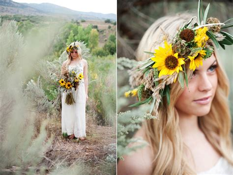 Desert Inspired Sunflower Wedding Featured On Peter