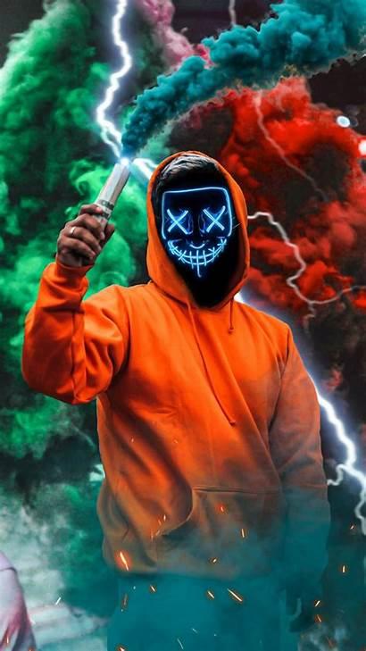 Neon Mask Smoke Joker Iphone Wallpapers Cool