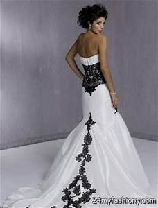 black and white wedding dresses with sleeves 2016-2017 ...