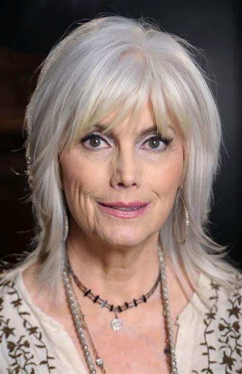 hairstyles  bangs  women   trendy gray hair