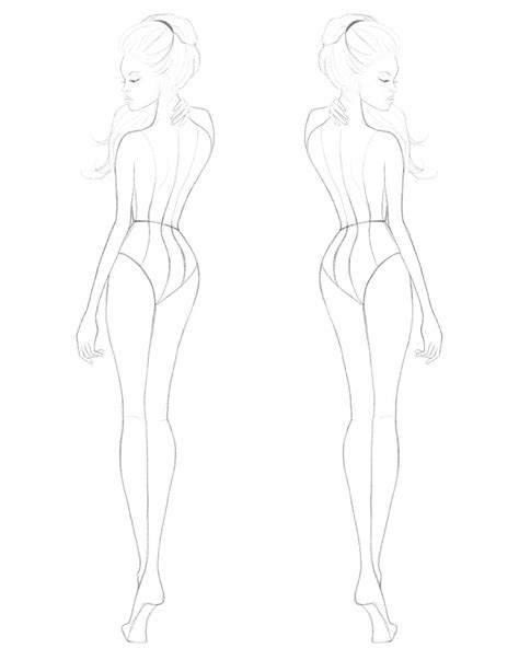 Fashion Templates Front And Back by Digital Fashion Doll S S Croquis 187 Goodies