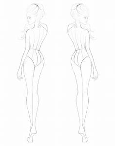 the gallery for gt high fashion croquis templates With fashion templates front and back female