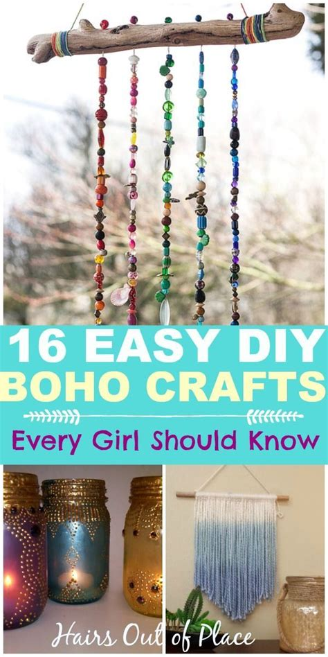 diy easy boho crafts   boho chic room diy
