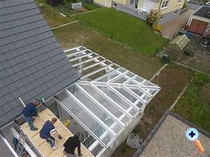 Terrassenüberdachung über Eck : bilder terrassendach als glasdach glasbefestigung mit verlegeprofilen ~ Whattoseeinmadrid.com Haus und Dekorationen