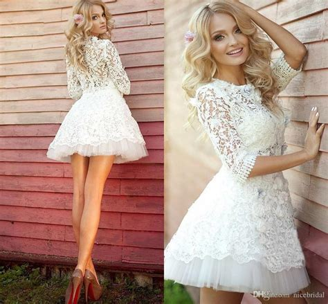 discount  summer beach short wedding dresses