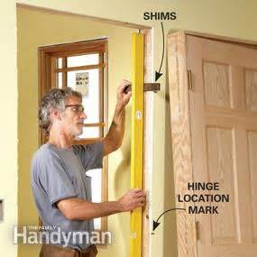 how to shim a door tips for hanging doors the family handyman