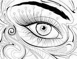 Coloring Eye Pages Printable Eyeball London Drawing Eyes Getdrawings Getcolorings Cool sketch template