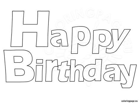 happy birthday coloring coloring page