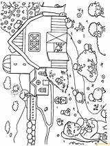 Coloring Farm Pages Animals Spring Printable Colouring Sheets Animal Yard Farmyard Lambs Cartoon Seasons Albanysinsanity Inspired Preschoolers Inspiration Farmers Together sketch template