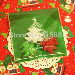 Green Christmas tree Bread Bags Party Favor Bags Self