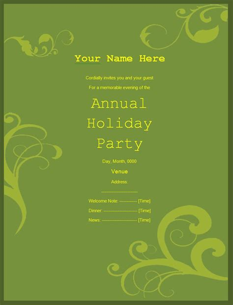 invitation party templates invitation templates free printable sample ms word