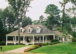Acadian Style Home with wrap-around porch in Alabama