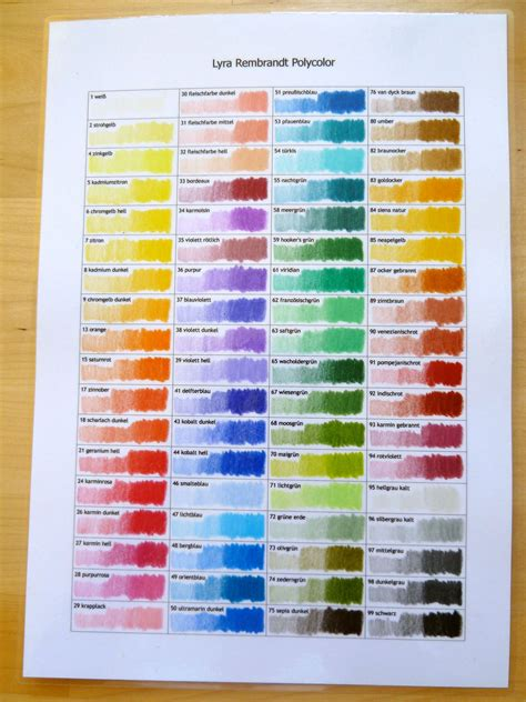 lyra rembrandt polycolor pencils based and smooth a to work with 72 colours color