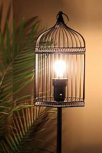 vintage birdcage floor lamp for all those that love bird With caged chandelier floor lamp