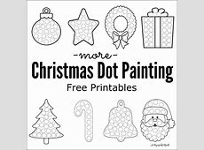 More Christmas Dot Painting {Free Printables} The