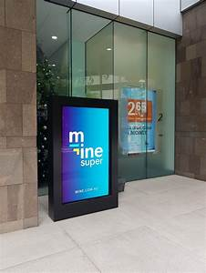 digital, signage, lcd, display, for, business, foyers