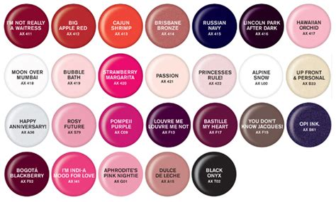 opi color chart gel nails opi axxium gels vs harmony gelish