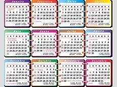 Calendario 2015 2019 2018 Calendar Printable with