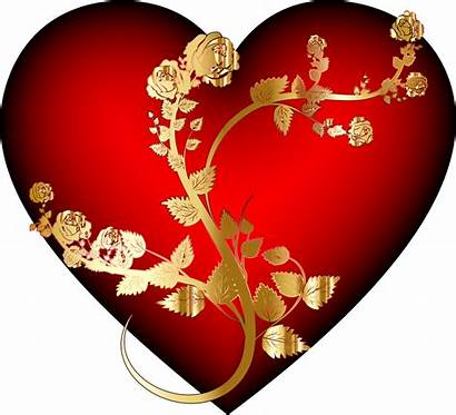 Heart Rose Clipart Golden Transparent Openclipart Flower
