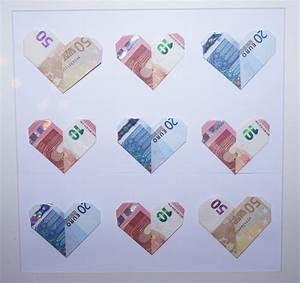 Geschenke Für 50 Euro : sch ner schenken und geldscheine falten das herz heiraten hochzeit ~ Frokenaadalensverden.com Haus und Dekorationen