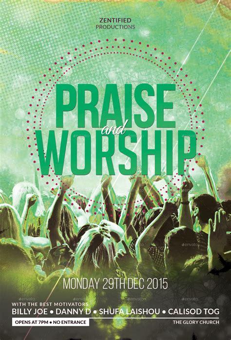 praise  worship flyer  zentify graphicriver