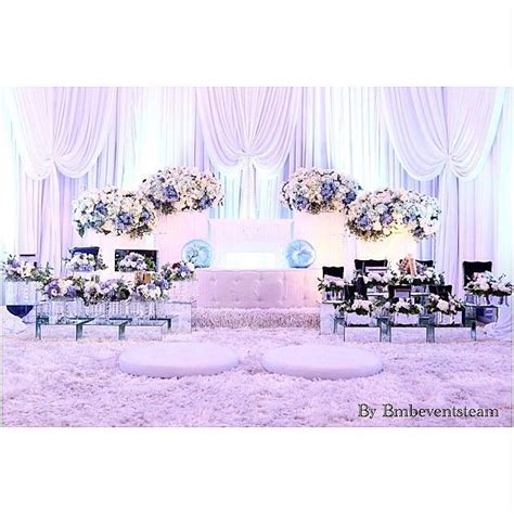 icy blue akad nikah pelamin  atbmbeventsteam