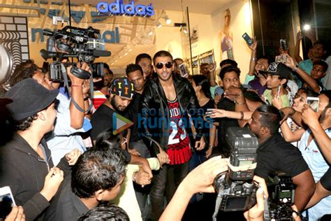 Ranveer Singh at the launch of Adidas' new range of ...