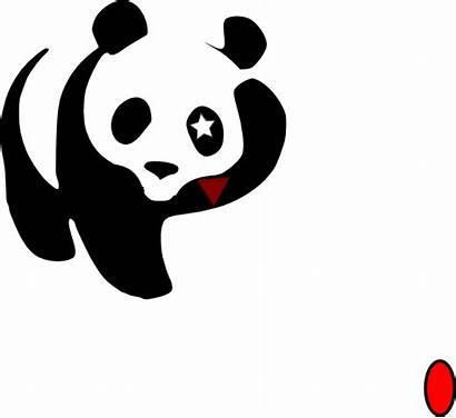 Panda Waving Cosmic Clker Clip Clipart Cliparts