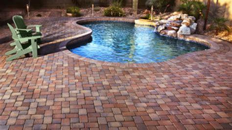 red brick patio pavers large pavers  pools patio