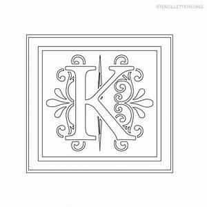 stencil letters k printable free k stencils stencil With decorative letter stencils