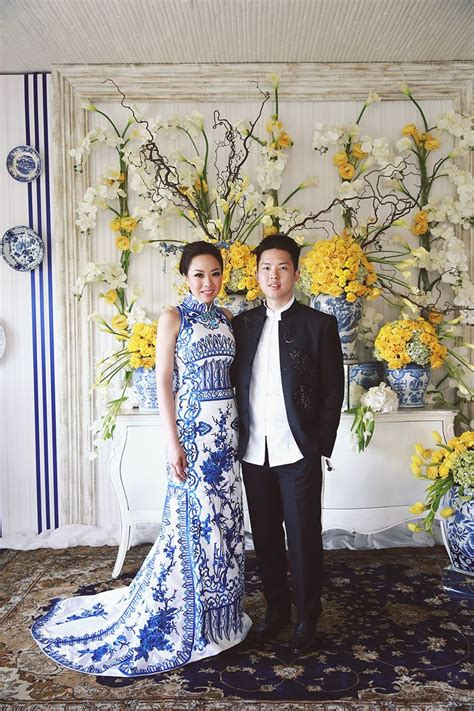ronald  evelyns colourful wedding  chinoiserie