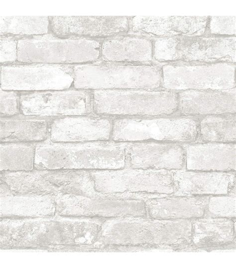 Update Your Decor With This Gray Brick Peel And Stick Wallpaper by Wallpops Nuwallpaper Grey White Brick Home White Brick