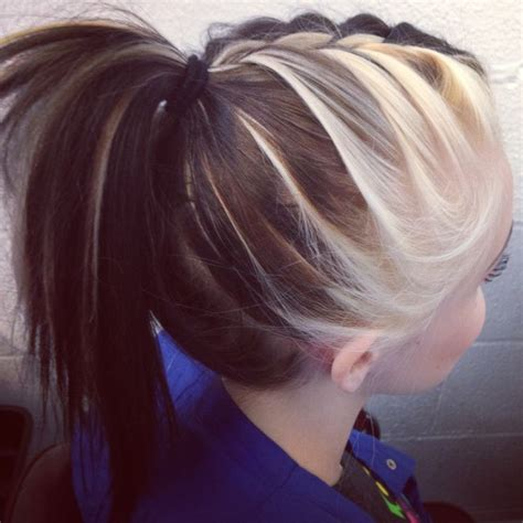 Toned Hair by Braided Ponytail With Two Toned Hair Hair Hair Two