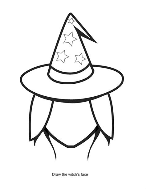 witch outline cliparts   clip art